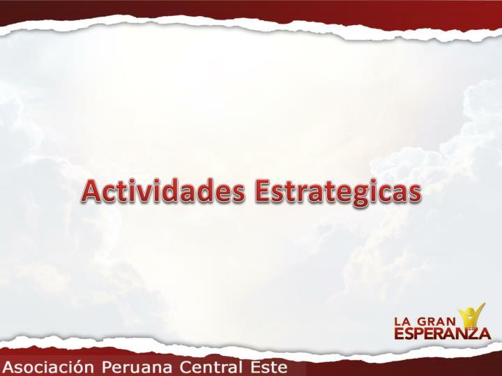 Actividades Estrategicas