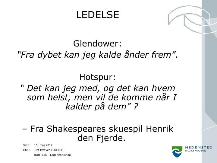 LEDELSE