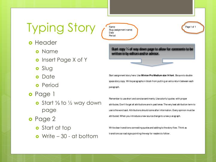 Typing Story