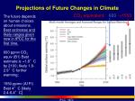 projections of future changes in climate