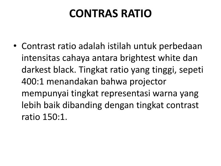 CONTRAS RATIO