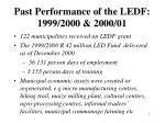 past performance of the ledf 1999 2000 2000 01
