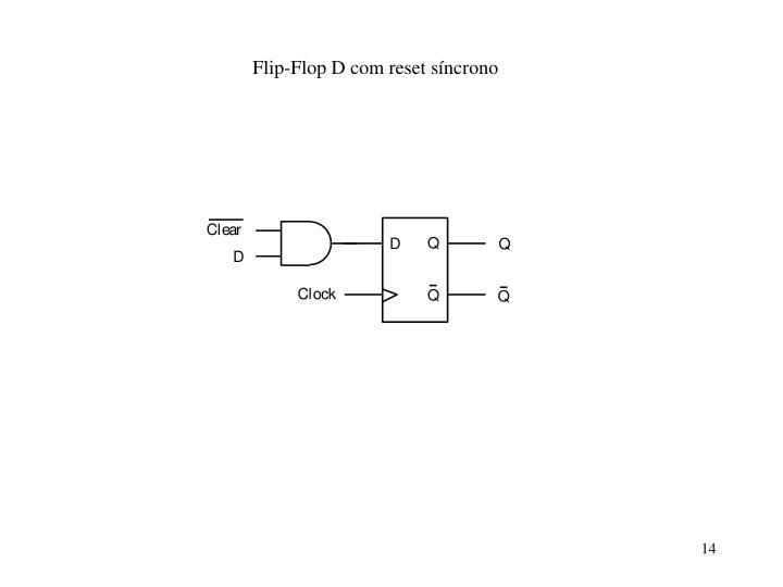 Flip-Flop D com reset síncrono