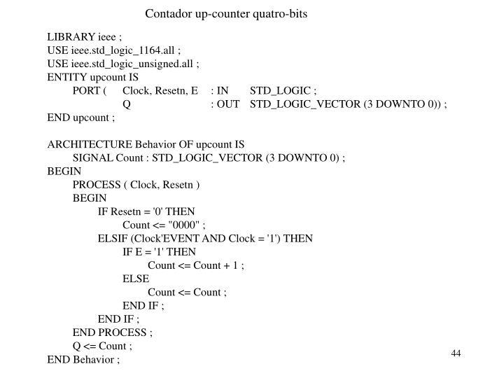 Contador up-counter quatro-bits