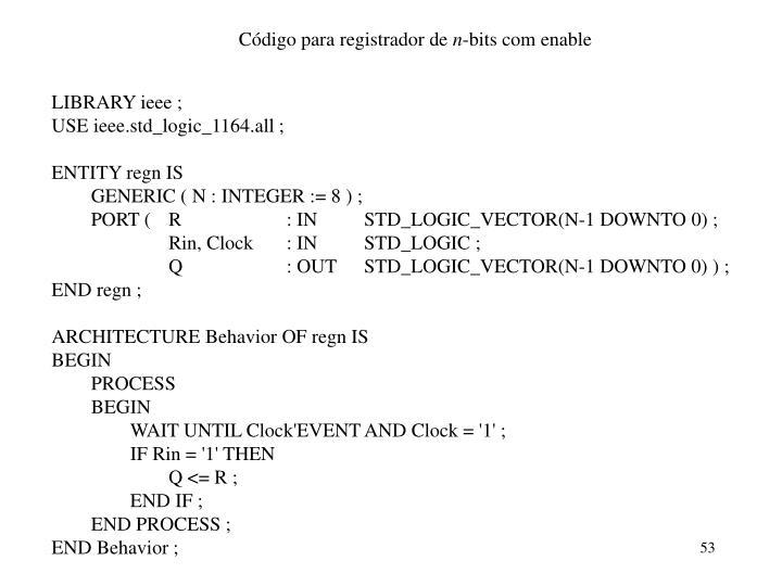Código para registrador de