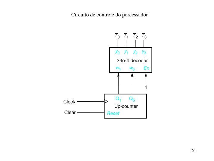 Circuito de controle do porcessador