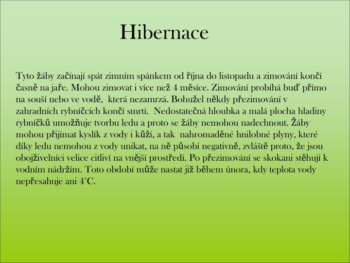 Hibernace