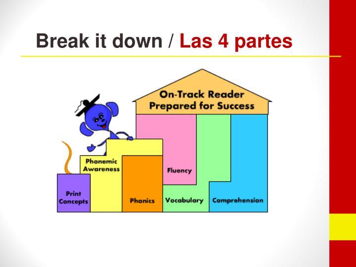 Break it down /