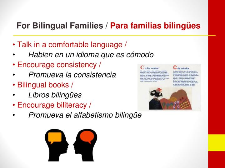 For Bilingual Families /