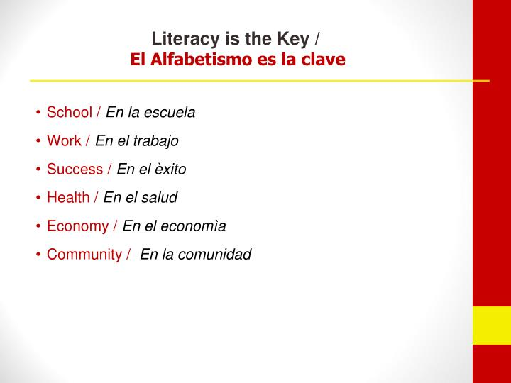 Literacy is the Key /