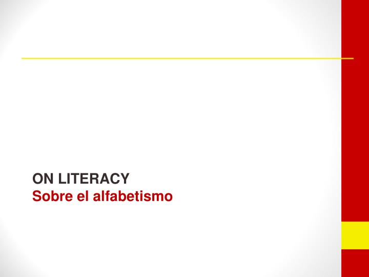 On literacy sobre el alfabetismo