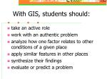 with gis students should