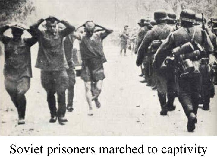 Soviet prisoners marched to captivity