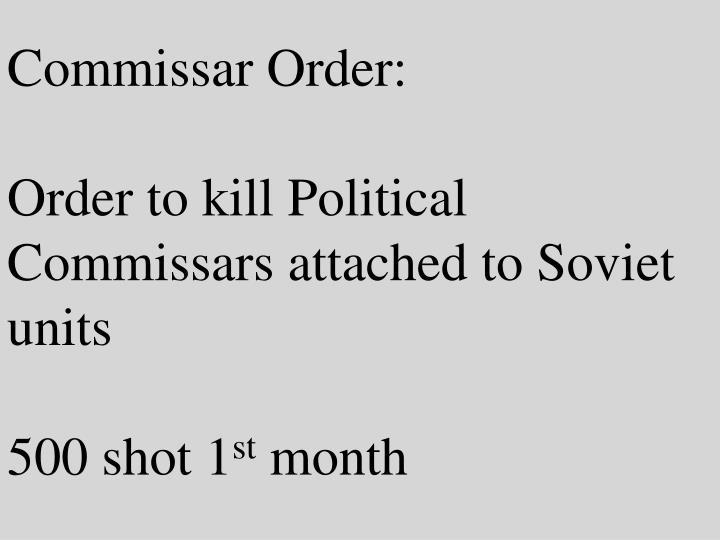 Commissar Order: