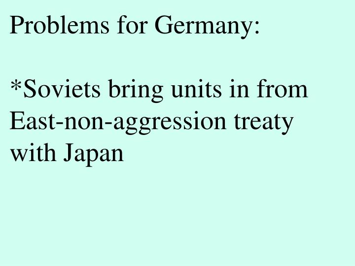 Problems for Germany: