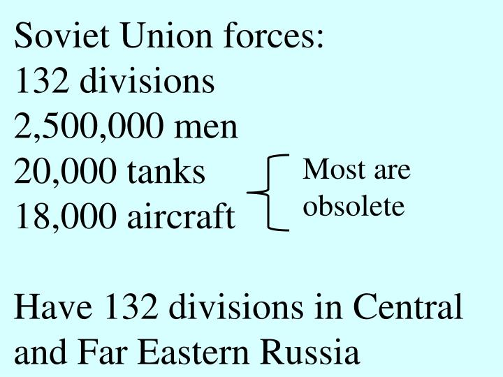 Soviet Union forces: