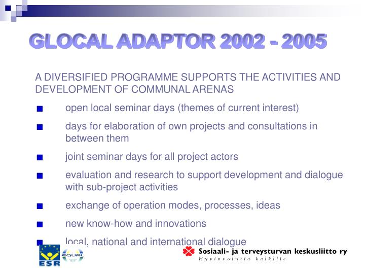 GLOCAL ADAPTOR 2002 - 2005