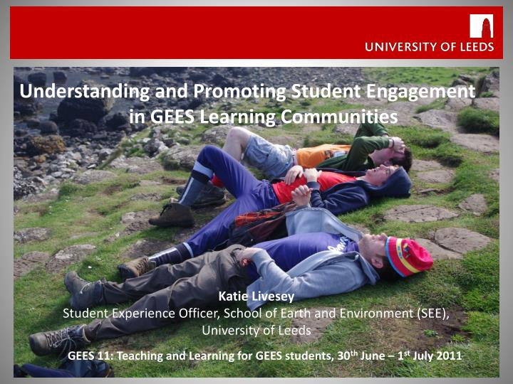 Understanding and Promoting Student Engagement