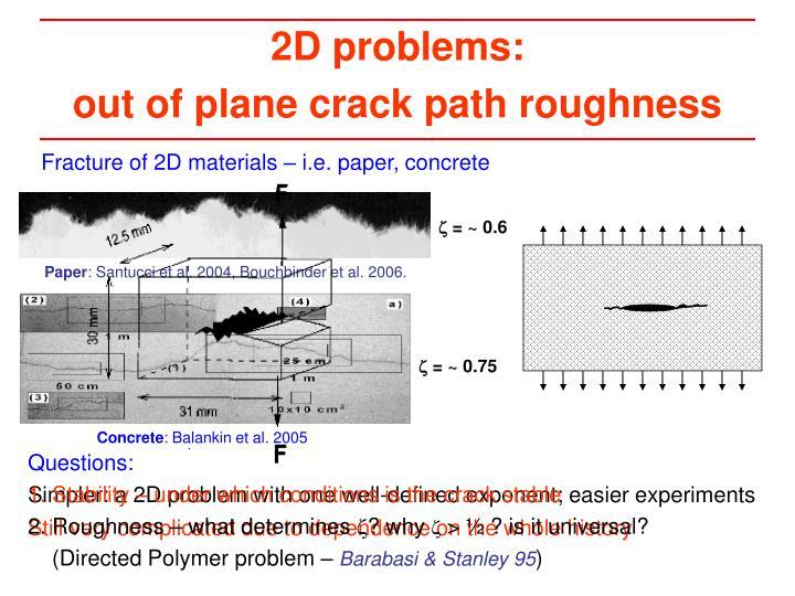 2D problems: