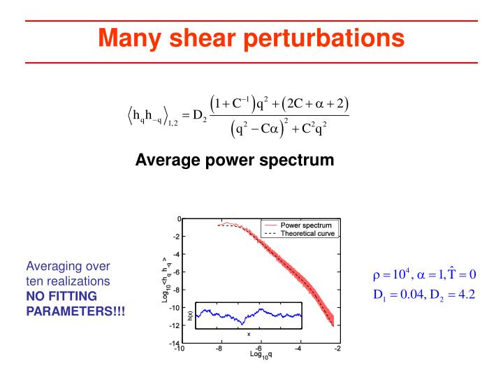 Many shear perturbations