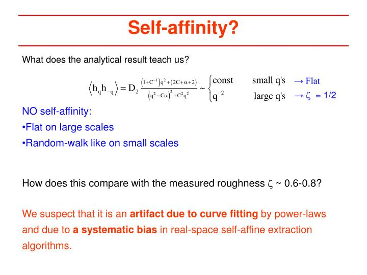 Self-affinity?