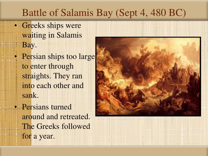 Battle of Salamis Bay (Sept 4, 480 BC)