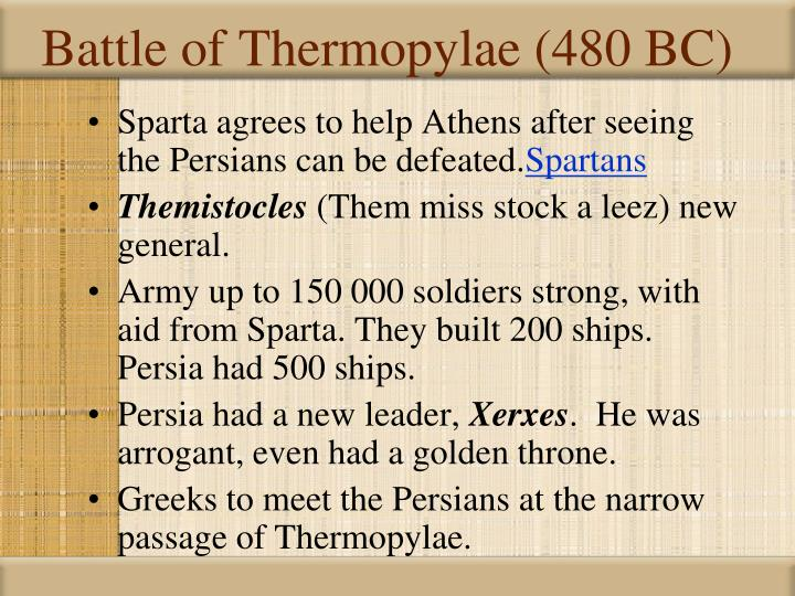 Battle of Thermopylae (480 BC)
