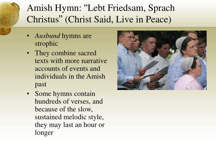 Amish Hymn: