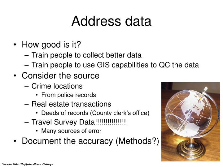 Address data