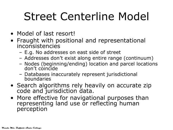 Street Centerline Model