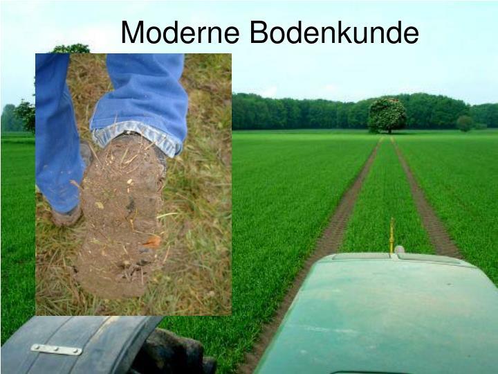 Moderne Bodenkunde