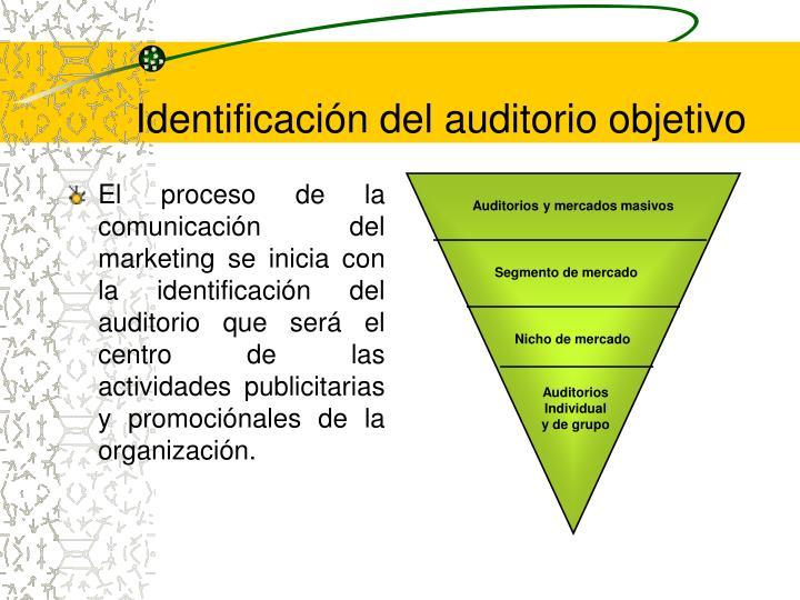 Identificación del auditorio objetivo