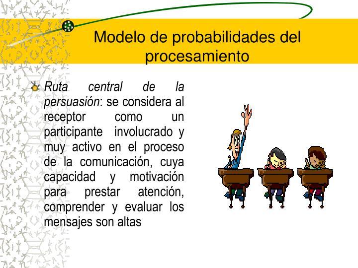 Modelo de probabilidades del procesamiento