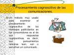 procesamiento cognoscitivo de las comunicaciones