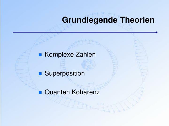 Grundlegende Theorien