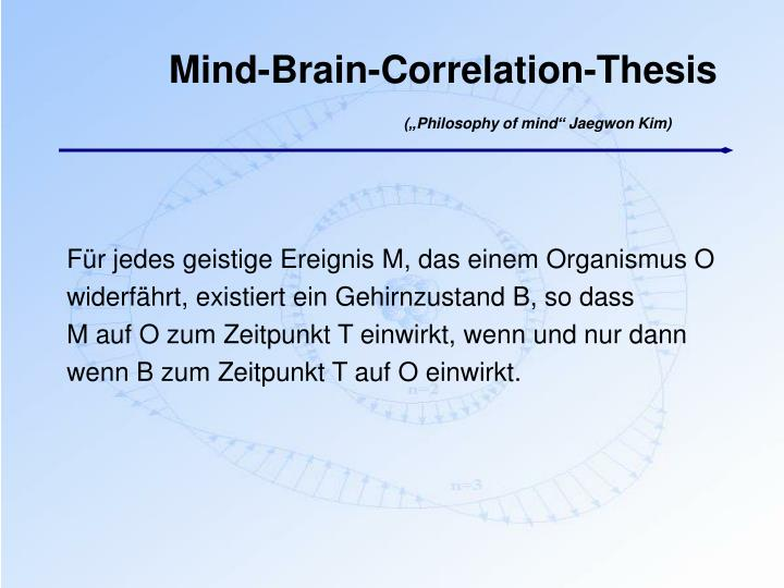 Mind-Brain-Correlation-Thesis