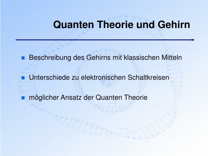 Quanten Theorie und Gehirn