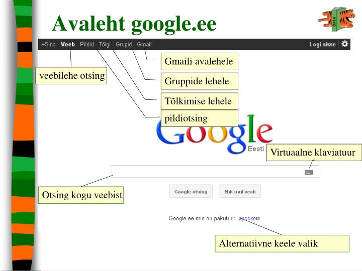 Avaleht google.ee