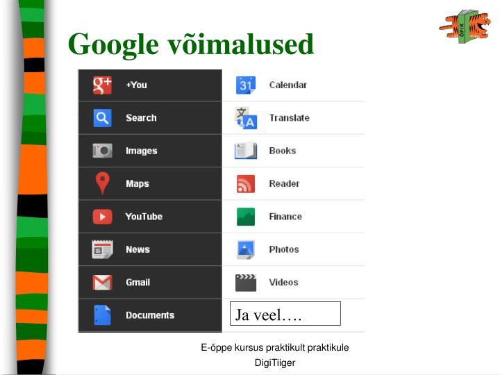 Google võimalused