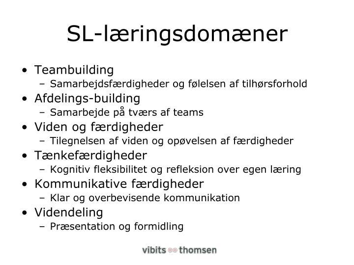 SL-læringsdomæner