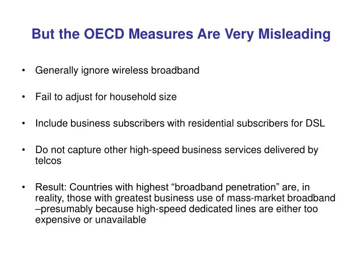 But the oecd measures are very misleading