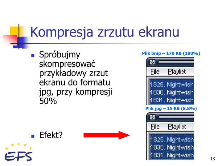 Kompresja zrzutu ekranu