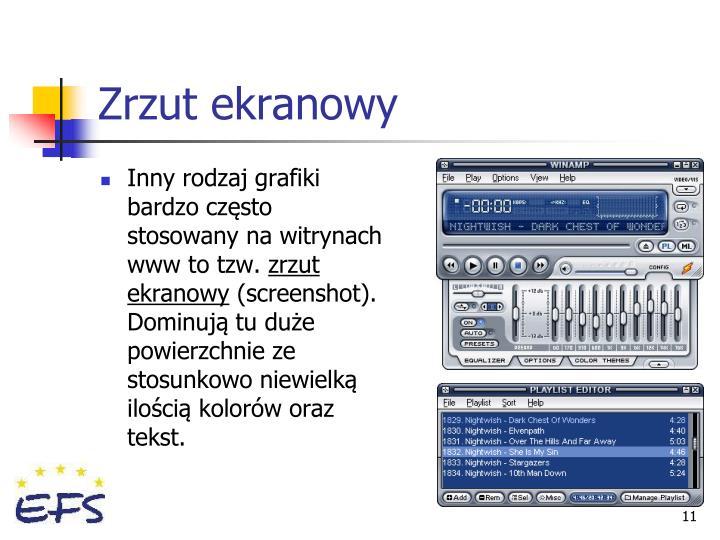 Zrzut ekranowy