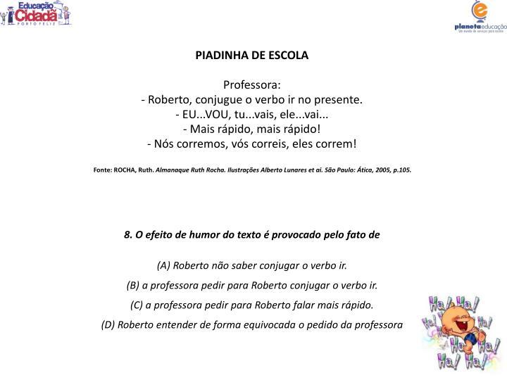 PIADINHA DE ESCOLA
