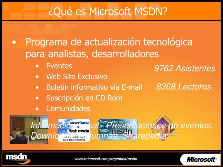 ¿Qué es Microsoft MSDN?