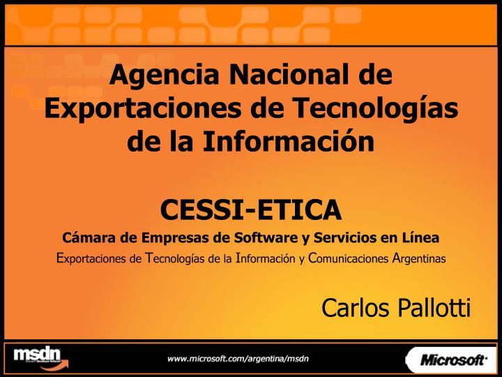 Agencia Nacional de Exportaciones de Tecnologías de la Información