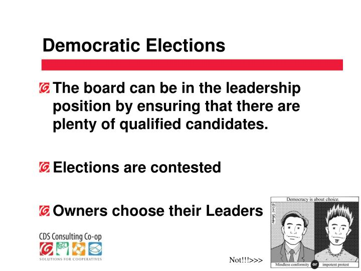 Democratic Elections