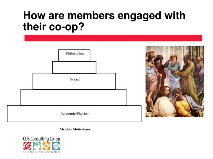 How are members engaged with their co-op?