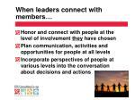 when leaders connect with members