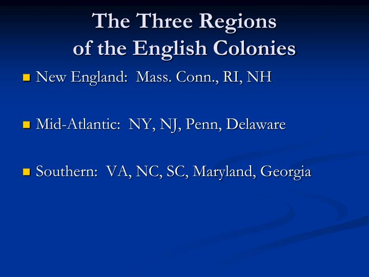 The Three Regions